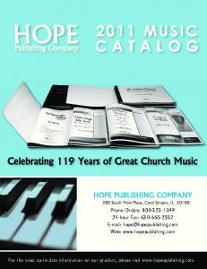 Choral Music - Hope Publishing Company