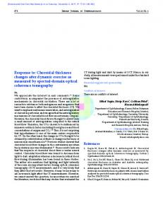 Choroidal thickness changes after dynamic exercise ...