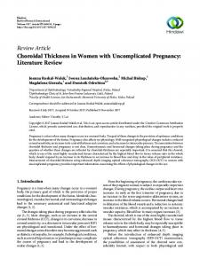 Choroidal Thickness in Women with Uncomplicated Pregnancy ...