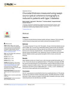 Choroidal thickness measured using swept-source optical ... - PLOS