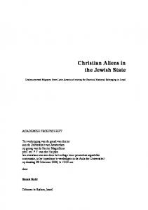 Christian Aliens in the Jewish State
