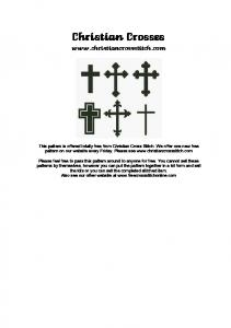 Christian Crosses - Christian Cross Stitch