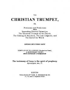 CHRISTIAN TRUMPET, - Eclipse of the Church