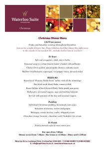 Christmas carvery party night - The Waterloo Suite