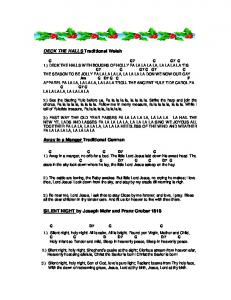 CHRISTMAS LYRICS and chords