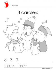 Christmas Math - 3 Carolers - HRSBSTAFF Home Page
