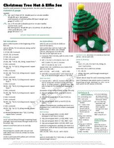 Christmas Tree Hat & Elfin Sox - p2 design