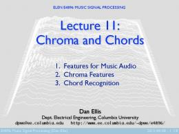 Chroma and Chords - Department of Electrical Engineering