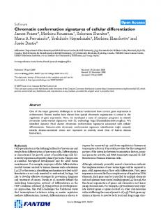 Chromatin conformation signatures of cellular differentiation