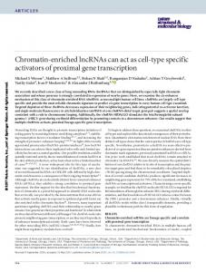 Chromatin-enriched lncRNAs can act as cell-type specific ... - Nature