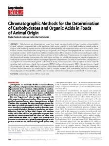 Chromatographic Methods for the Determination ... - Wiley Online Library