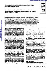 Chromatographic separation of stereoisomers of ligand-bridged ...