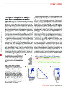 ChromHMM: automating chromatin-state discovery and ... - Nature