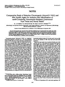 chromID VRE - Journal of Clinical Microbiology - American Society for ...