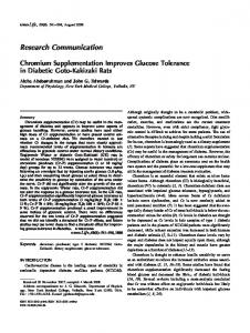 Chromium supplementation improves glucose ... - Wiley Online Library