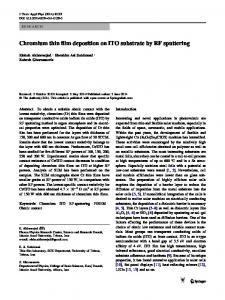 Chromium thin film deposition on ITO substrate by RF sputtering ...