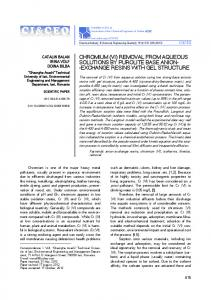 chromium (vi) removal from aqueous solutions by purolite base anion