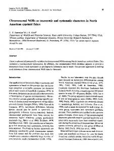 Chromosomal NORs as taxonomic and systematic characters in North ...