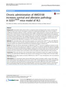 Chronic administration of AMD3100 increases ... - Semantic Scholar