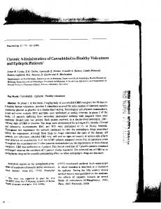 Chronic Administration of Cannabidiol to Healthy Volunteers