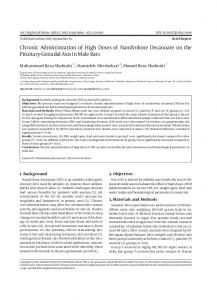 Chronic Administration of High Doses of ... - Semantic Scholar