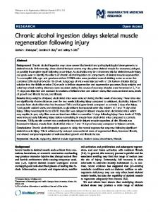 Chronic alcohol ingestion delays skeletal muscle regeneration ...