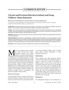 Chronic and Persistent Diarrhea in Infants and Young ... - medIND