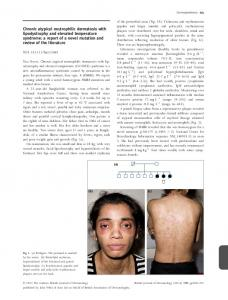 Chronic atypical neutrophilic dermatosis with ... - Wiley Online Library