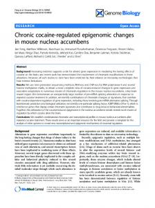 Chronic cocaine-regulated epigenomic changes in ... - BioMedSearch