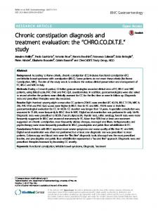 Chronic constipation diagnosis and treatment evaluation - BMC ...