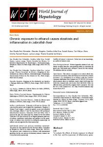 Chronic exposure to ethanol causes steatosis and ... - Semantic Scholar