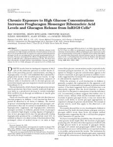 Chronic Exposure to High Glucose Concentrations Increases ...