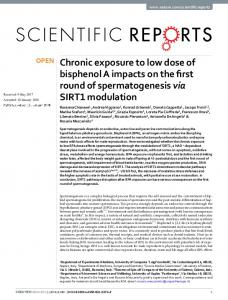 Chronic exposure to low dose of bisphenol A impacts ...