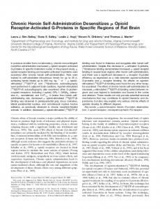Chronic Heroin Self-Administration Desensitizes ... - Semantic Scholar