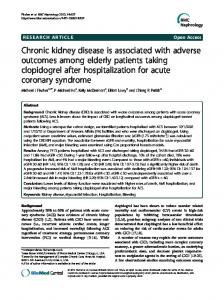 Chronic kidney disease is associated with adverse outcomes among ...
