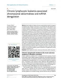 Chronic lymphocytic leukemia-associated
