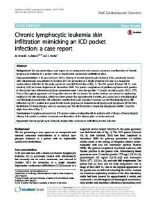 Chronic lymphocytic leukemia skin infiltration mimicking an ICD pocket ...