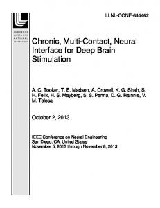 Chronic, Multi-Contact, Neural Interface for Deep ... - Site Index Page
