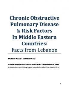 Chronic Obstructive Pulmonary Disease & Risk Factors In Middle ...