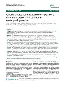 Chronic occupational exposure to hexavalent ... - BioMedSearch