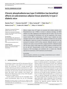 Chronic PDE5 inhibition has beneficial effects on
