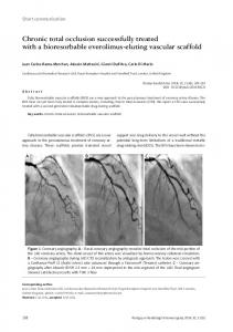 Chronic total occlusion successfully treated with a