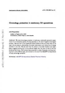 Chronology protection in stationary three-dimensional spacetimes