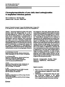Chronopharmacokinetics of once daily dosed ... - Springer Link