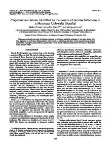 Chryseomonas luteola - Journal of Clinical Microbiology - American ...