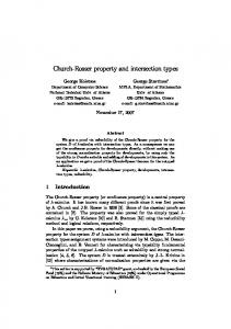 Church-Rosser property and intersection types