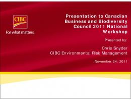CIBC Environmental Risk Management - Canadian Business and ...