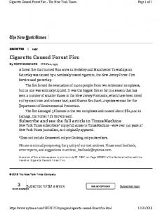 Cigarette Caused Forest Fire 3