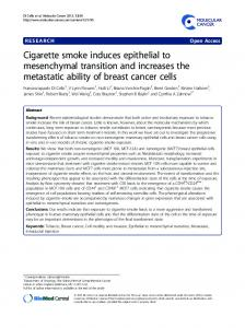 Cigarette smoke induces epithelial to mesenchymal ... - BioMedSearch