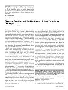 Cigarette Smoking and Bladder Cancer: A New ... - Oxford Journals